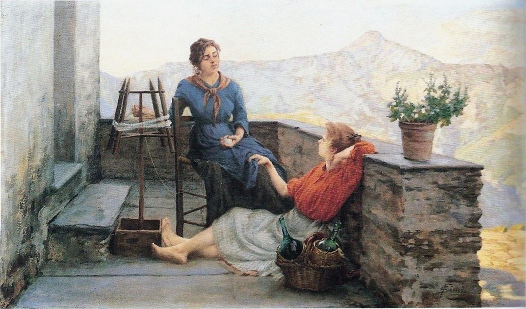 "Filadelfo Simi, ""A moment of rest""."